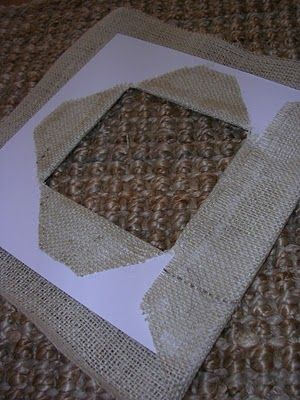 Time for a picture mat update - Repurpose old pictures with burlap
