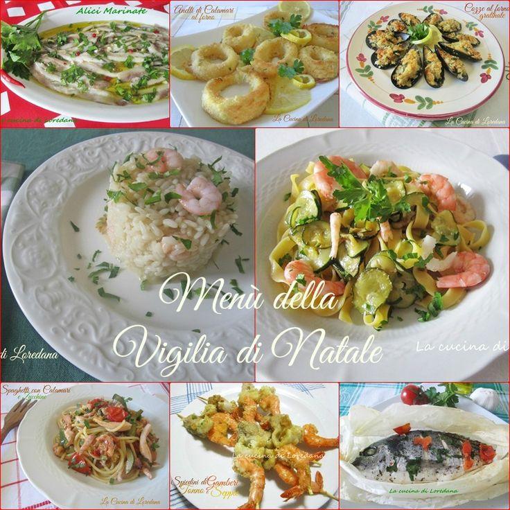 Una raccolta di deliziose ricette semplici per preparare un Menù della Vigilia di Natale: antipasti, primi e secondi patti tutti a base di pesce