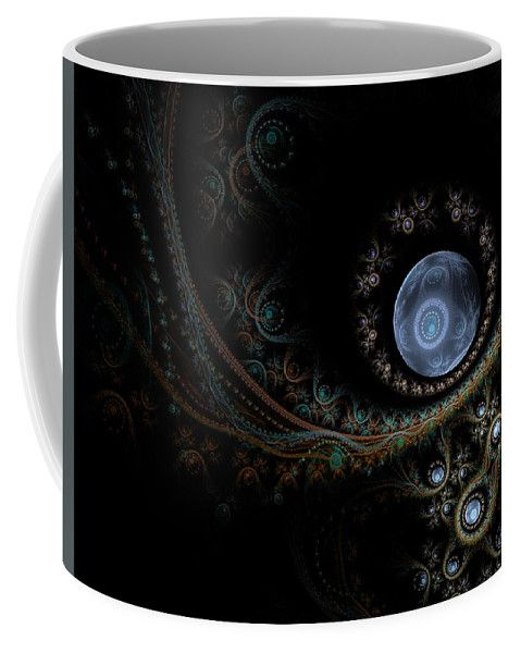 Fractal Coffee Mug featuring the digital art An Abstract Universe by Elena Ivanova IvEA #ElenaIvanovaIvEAFineArtDesign #Decor #Mug #Cup #Gift