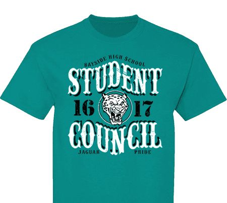 High School Impressions Search SC 087 W; Custom Student Council T Shirts,