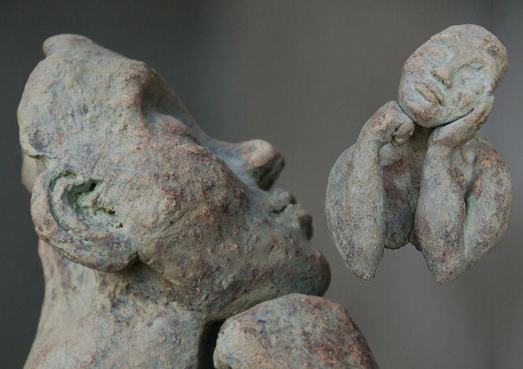 Marianne van den Berg, Donna, ceramic patinated 15 x 13 x 12cm