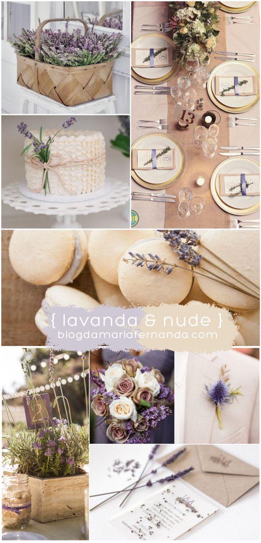 Decoração de Casamento: Paleta de Cores Nude e Lavanda |  Wedding Inspiration Board Color Palette Nude and Lavender | http://blogdamariafernanda.com/decoracao-de-casamento-paleta-de-cores-nude-e-lavanda