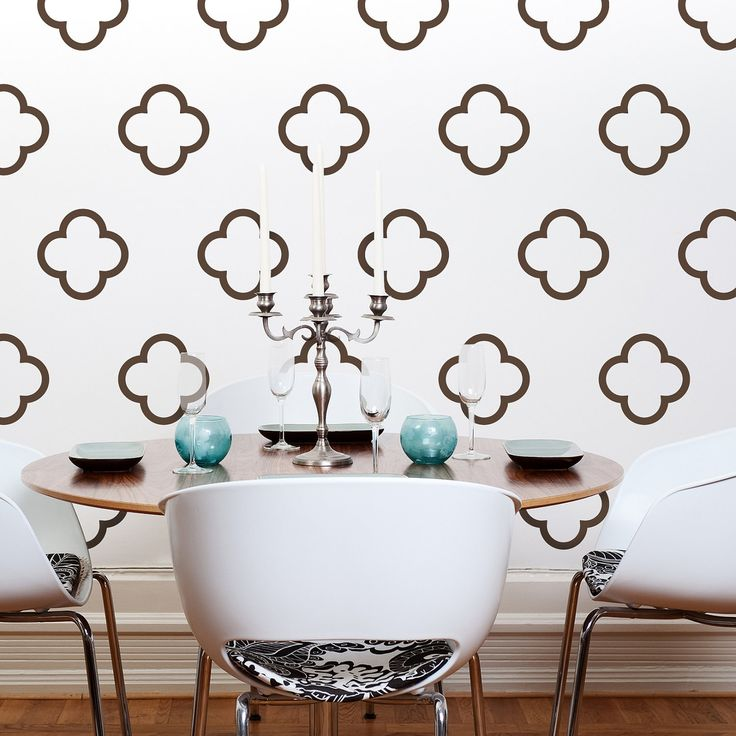 Moroccan Style Vinyl Wall Decals, Moroccan Quatrefoil Bubbles  30 Graphics,  Sticker, Wallpaper  Item 10027