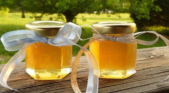 Wedding Favors 24 Raw Wildflower Honey 2oz Jars by HillsideBees, $99.50