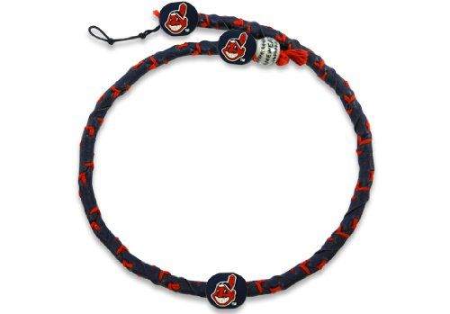 MLB Team Color Frozen Rope Baseball Necklace - Cleveland Indians  http://allstarsportsfan.com/product/mlb-team-color-frozen-rope-baseball-necklace/?attribute_pa_color=cleveland-indians  Adjustable Clasp Made from Genuine Leather Officially Licensed