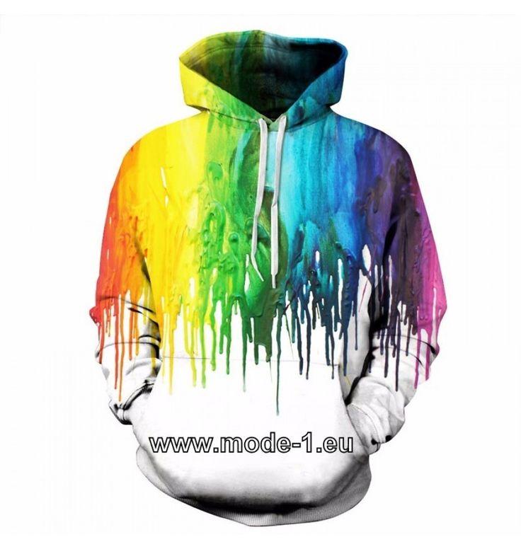 Herren Pullover Hoodie mit 3D Druck - Farben