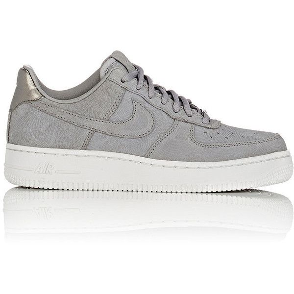 Nike Women's Air Force 1 '07 Premium Sneakers (33.265 HUF) ❤ liked on Polyvore featuring shoes, sneakers, tenis, nike, sapatos, grey, nike footwear, gray shoes, lace up sneakers and nike trainers