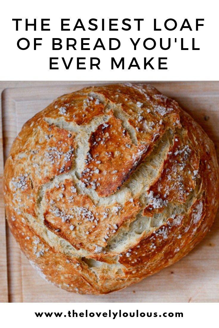 Easy Homemade Dutch Oven Bread   Recipe   Easy bread ...