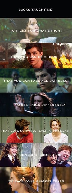 Books taught me lots of things. So before you hate, see how many lives they've saved.