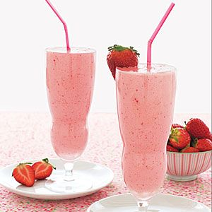 These creamy strawberry milkshakes keep it simple with just 4 ingredients: fresh strawberries, vanilla extract, ice cream, and milk.