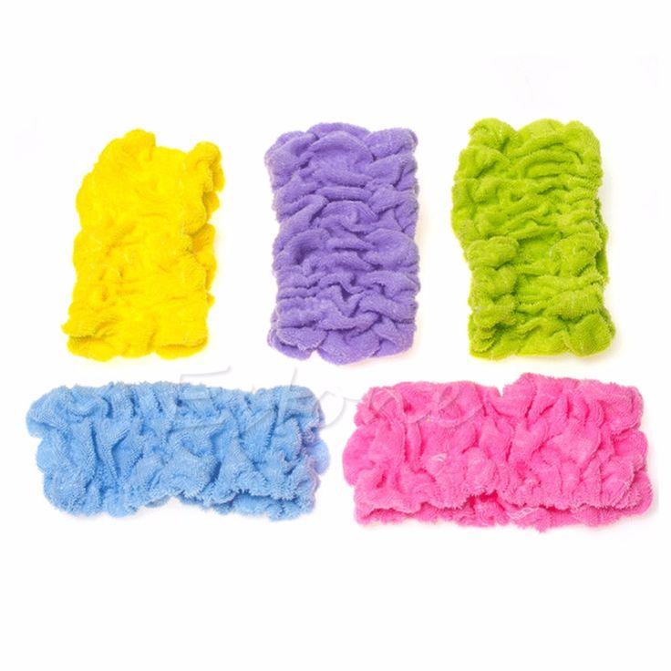 1PC Soft Elastic Headband Bath Spa Make Up Shower Hair Band Headwrap Holder New