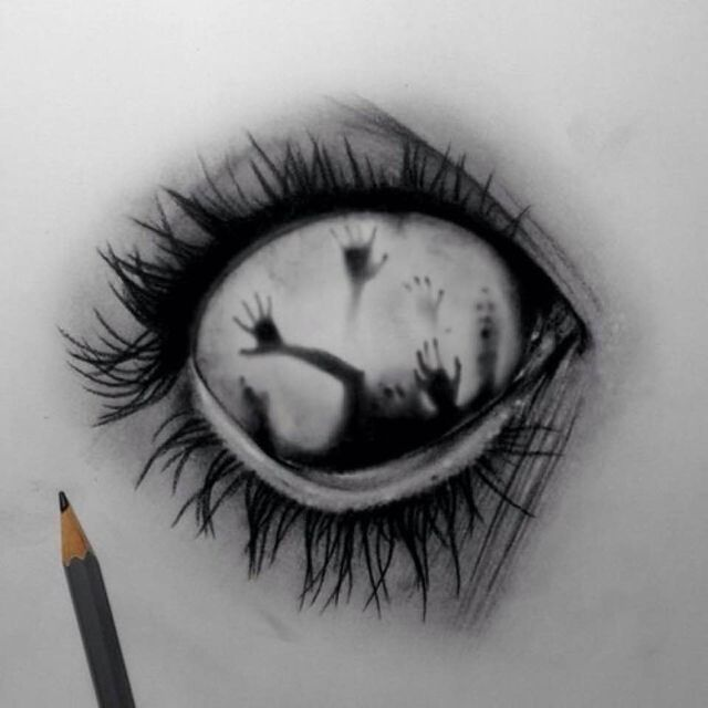 17 Best ideas about Eye Drawings on Pinterest | Eye sketch ... Sleep Paralysis Drawings