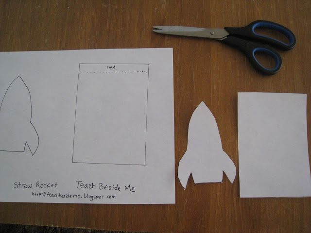 Straw Rocket With Printable Template