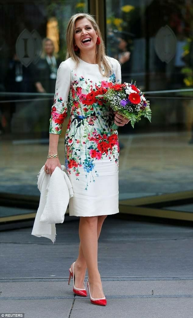 Queen Maxima and 1st daughter of the US Ivanka Trump in Berlin 25-4-2017