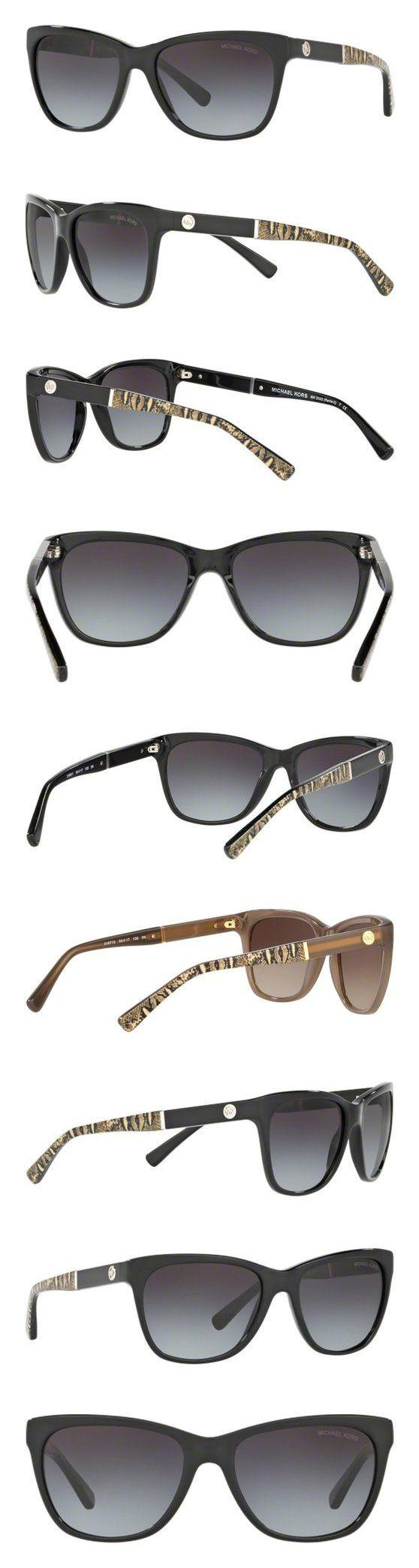 $81.84 - Michael Kors 316811 Black / Print 2022 Wayfarer Sunglasses Lens Category 3 Lens #michaelkors