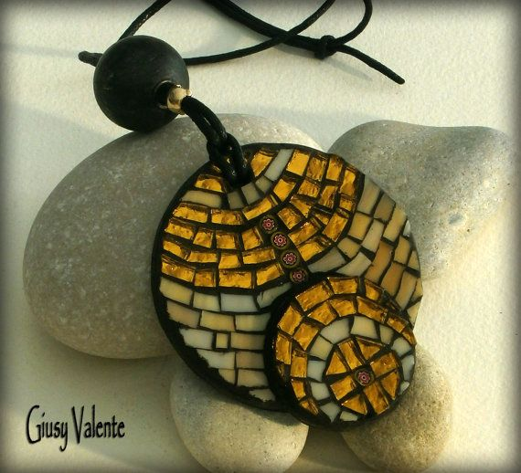 Mosaic to wear   Sun Pendant by GiusyValente on Etsy