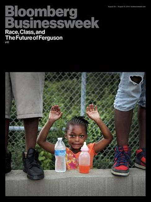 Great, austere cover by Bloomberg Business on #Ferguson.