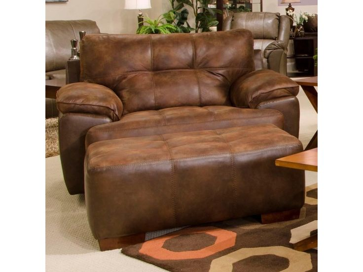 Jackson Furniture Drummond Chair and a Half & Ottoman - Gill Brothers Furniture - Chair & Ottoman
