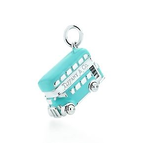 Tiffany & Co. | Item | Double-decker bus charm in sterling silver with Tiffany Blue enamel finish. | United Kingdom