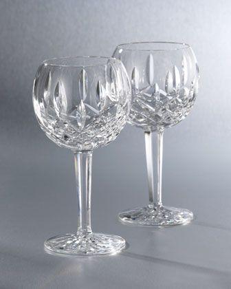 Lismore Crystal Wine Gl