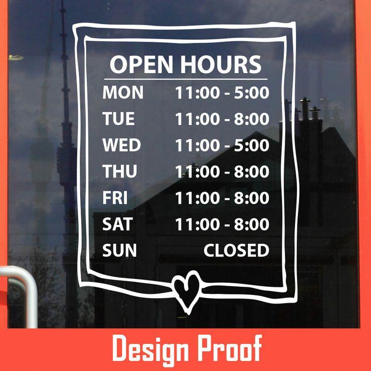 Best Business Hour Gallery Images On Pinterest Custom Vinyl - Custom vinyl decals vancouver