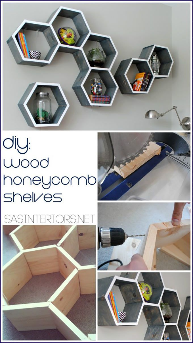 Create adorable and functional shelves that ends up looking like a piece of art!