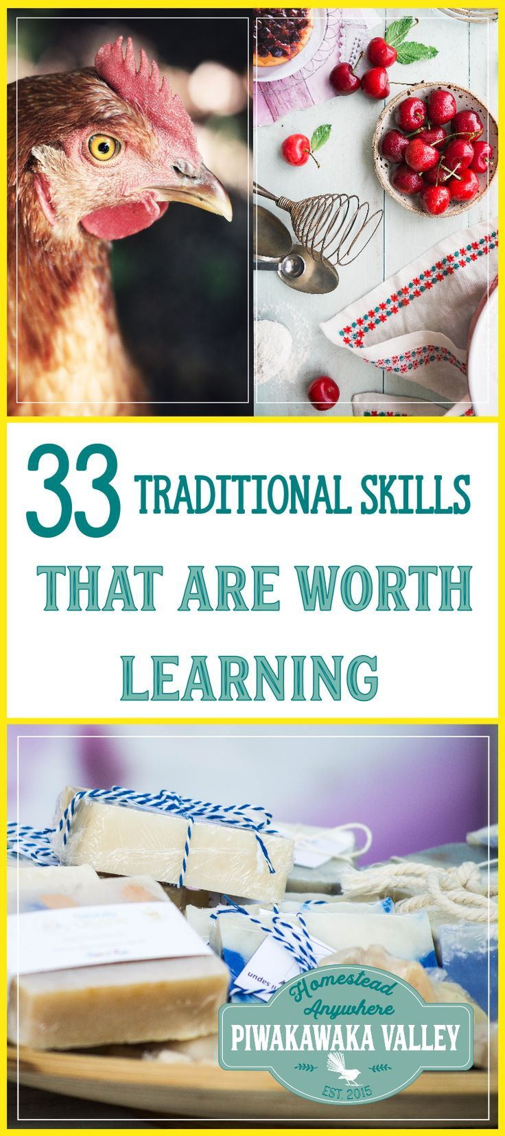 Are you keen to join the growing movement of people  returning to traditional ways of life? These 33 traditional skills will help you on your road to self sufficiency.