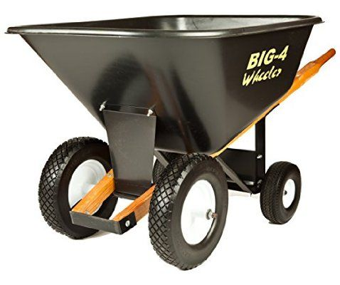 Big 4 Wheeler Heavy-Duty Wheelbarrow with Airless Tires, 10-Feet (Discontinued by Manufacturer)