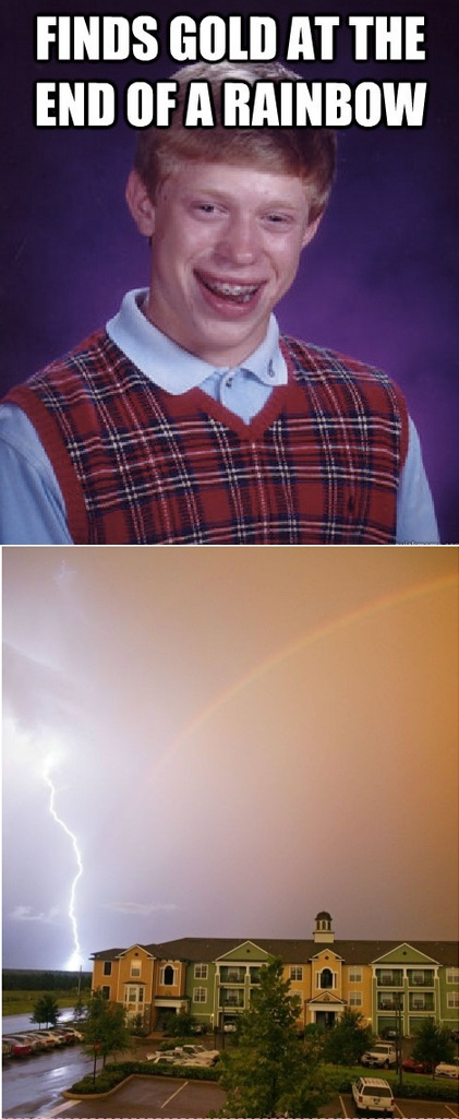 Bad Luck Brian finds gold - Imgur