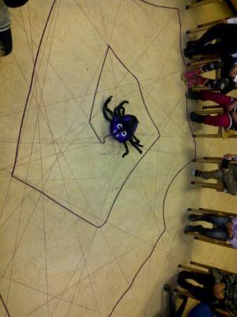 Hoe maakt een spin een web?