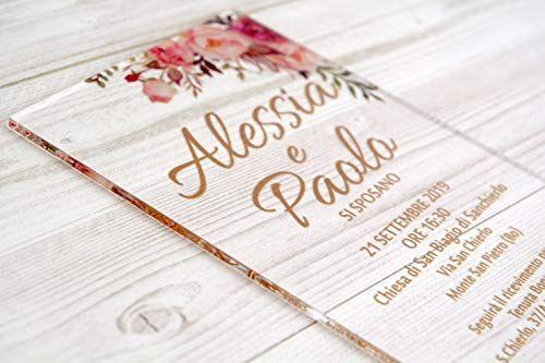 Partecipazioni Matrimonio Personalizzate Inviti Nozze Plexiglass Matrimonio Personalizzato Nozze Matrimonio