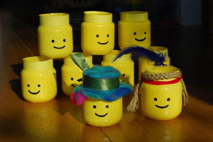 Knutselen met jampotjes (1) - lego feestje