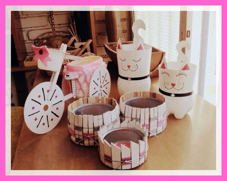 El juego completo en rosa blanco y negro de bicicleta for Faros para jardin