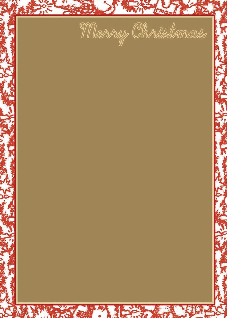 Holiday stationery templates free download free printable christmas border templates for Christmas stationary border