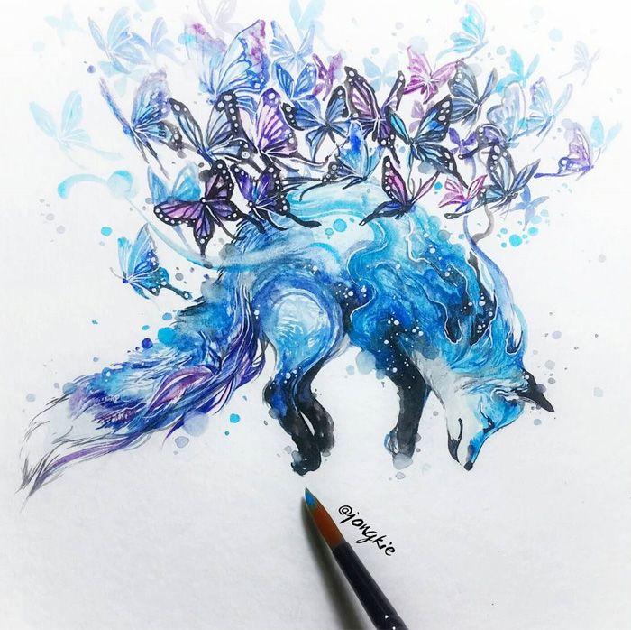 Pinturas de acuarela le dan vida a hermosos animales - mott.pe