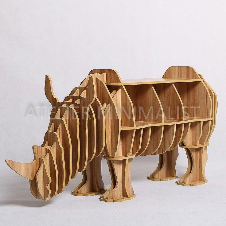 Wooden Rhino Shelf