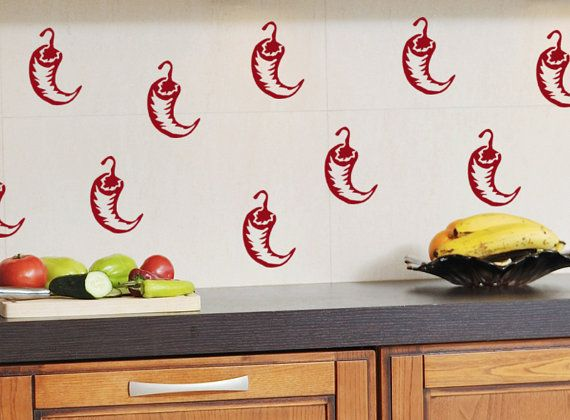 Chili Pepper Decal Kitchen Decor