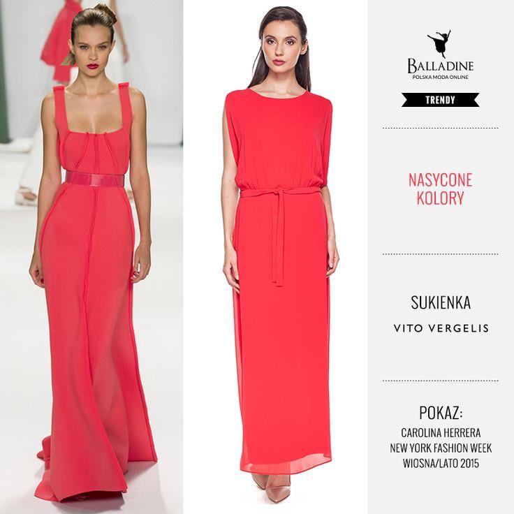 W Balladine znajdziecie wiele ubrań swobodnie inspirowanych projektami światowych designerów. Dziś mamy dla Was malinową sukienkę do ziemi z talią podkreślona paskiem. To świetny wybór zarówno do eleganckich jak i casualowych stylizacji.  Sukienka Vito Vergelis | http://goo.gl/6zeTfH