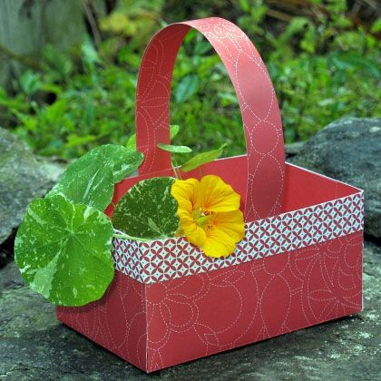 How To Make A Lovely Paper Basket 9handmade Paper Baskets