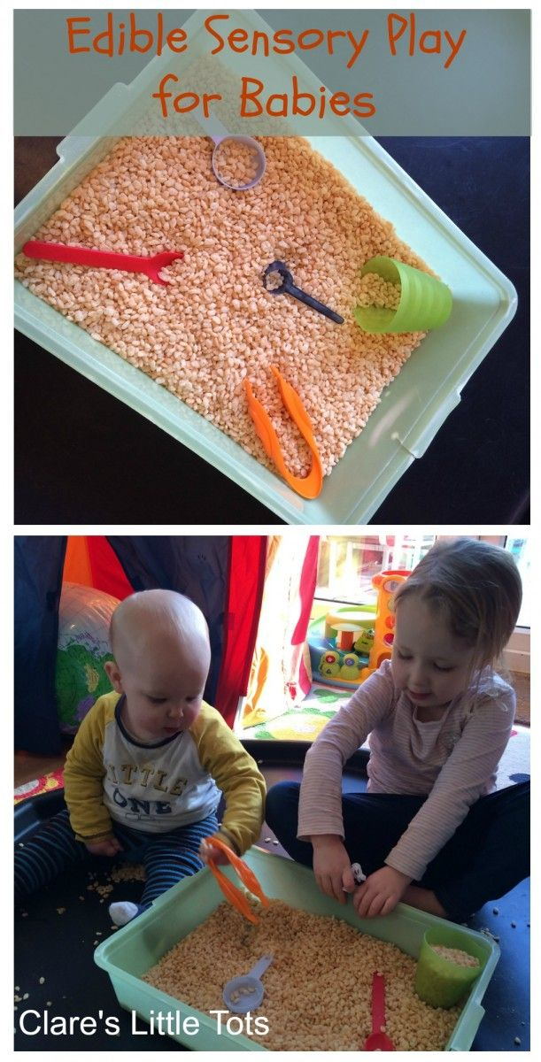 edible sensory play for babies, taste safe fun baby play in the tuff spot.