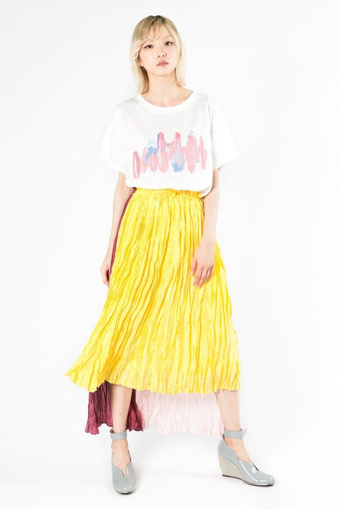 Heat Set Pleated Chiffon Skirt