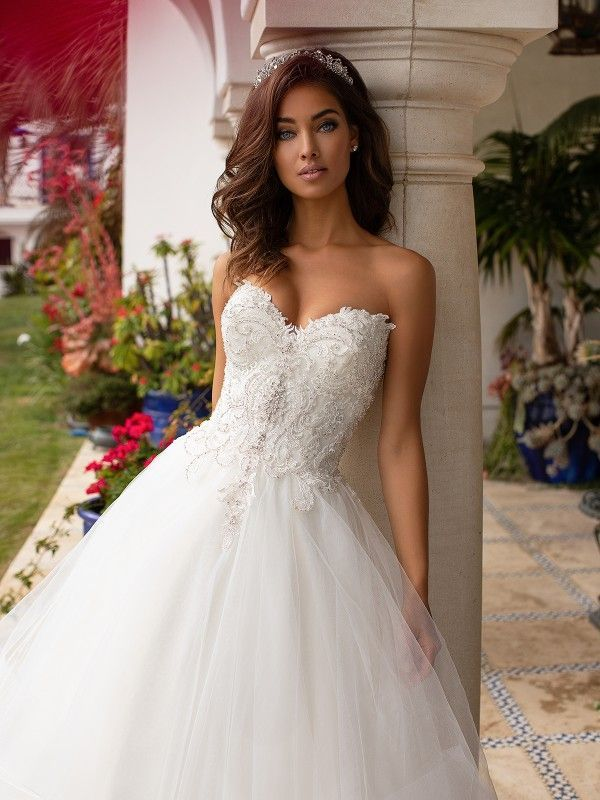 Sweetheart Whimsical Tulle Ball Gown Moonlight Couture H1393 Bridal Ball Gown Princess Wedding Dresses Ball Gown Wedding Dress