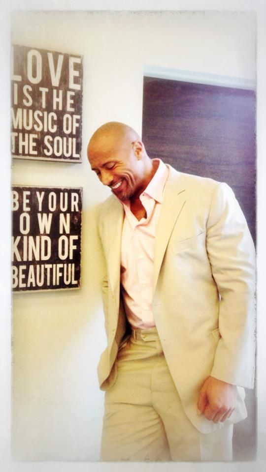 There's something about a man in a suit and a smile  #DwayneJohnson
