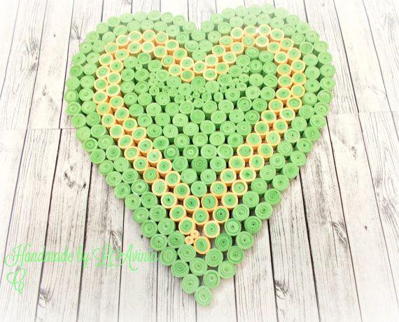 Best friend gift heartGreen heart by HandmadeByLaviniaC on Etsy