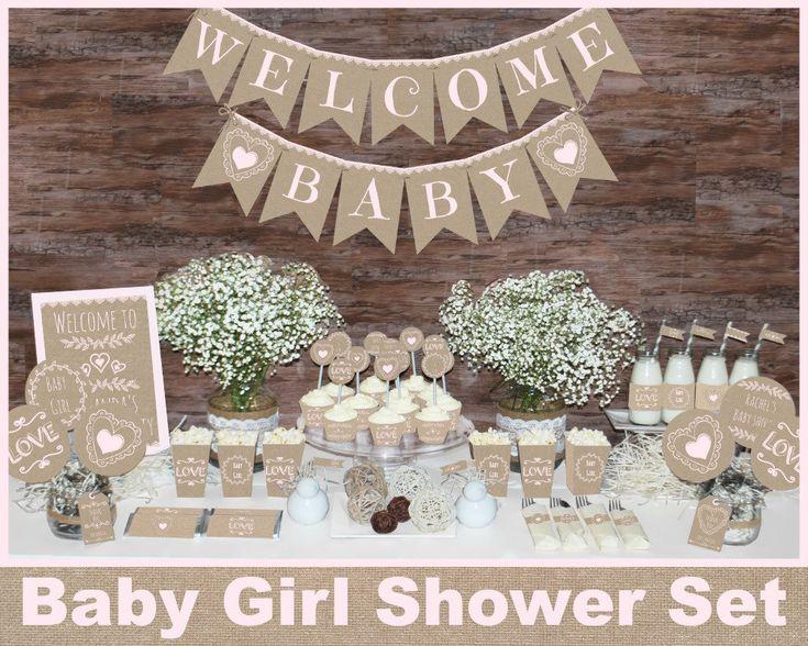 Rústico bebé ducha decoraciones decoraciones de ducha
