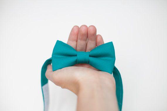 Teal Bow tie  baby Bow Tie toddler bow ties mens tie by LaeCaTies
