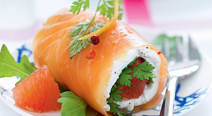 Vous adorerez croquer dans ces roulés de saumon à la marinade de pamplemousse de Floride. Un vrai délice !