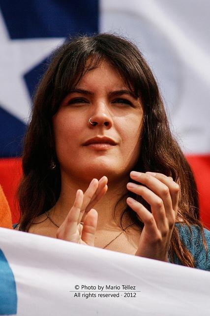 Camila Vallejo, Marcha 28 de agosto, Chile 2012 by mtellezcar, via Flickr