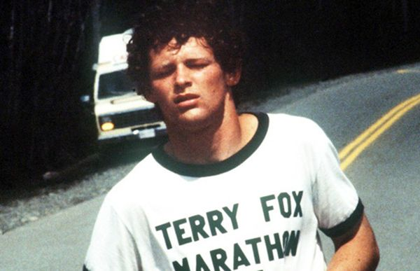 Terry Fox ran the equivalent of a marathon a day for 143 days straight, on one leg, to raise awareness for the need for research funding. Description from e-know.ca. I searched for this on bing.com/images