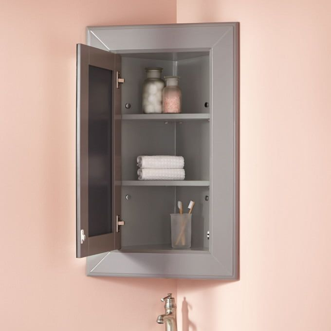 Pin By Joyful Jess On Rv Life Corner Medicine Cabinet Bathroom Furniture Cabinet